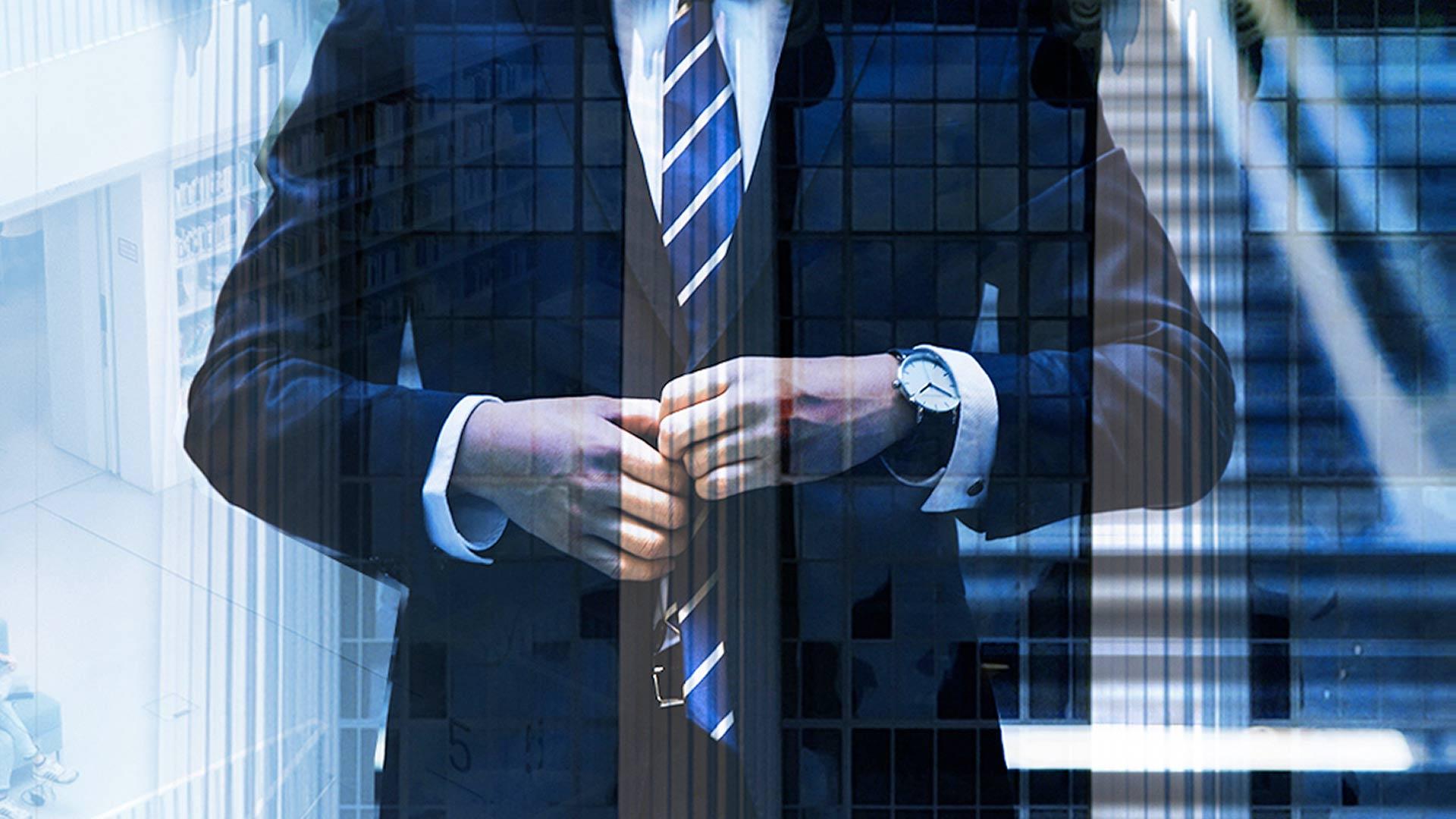 businessman portfolio feature
