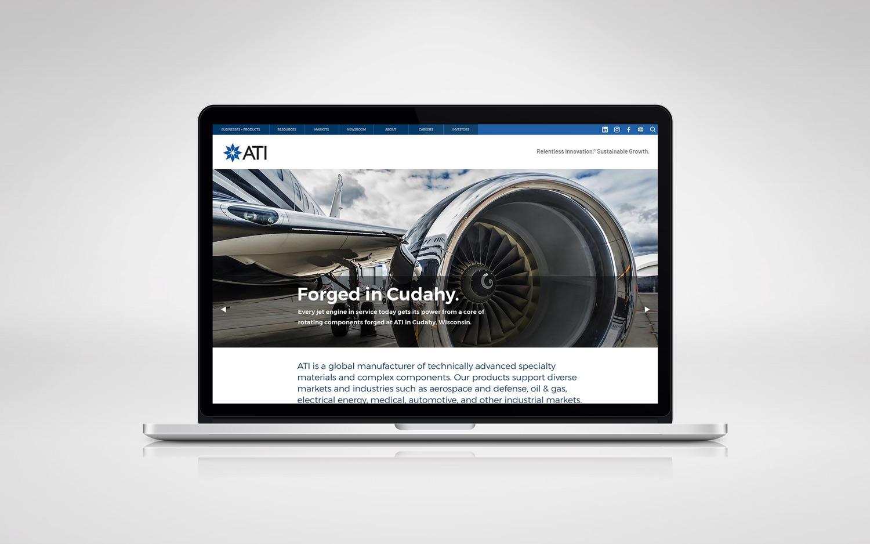 ati website screenshot