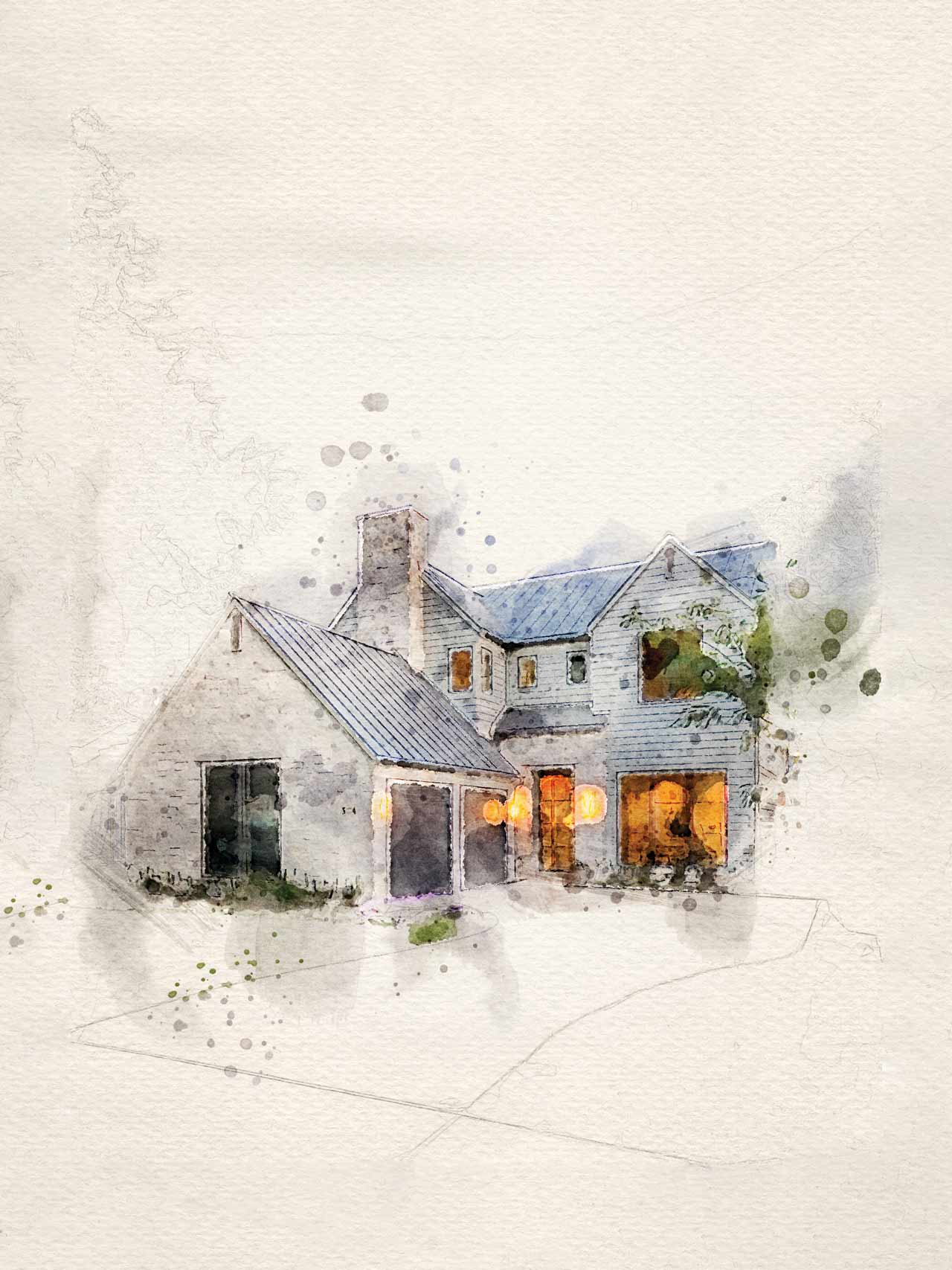 PPG cover image watercolor of house